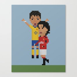 Keown vs Van Nistelrooy Canvas Print