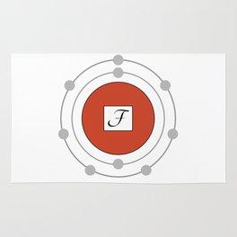 Fluorine - Bohr Model Rug