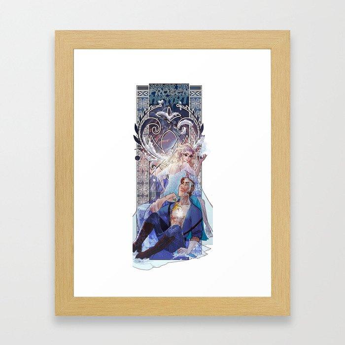 beautiful powerful dangerous cold Framed Art Print