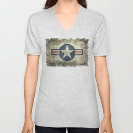 Air force Roundel v2 Unisex V-Neck