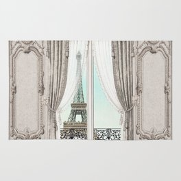 Eiffel Tower room with a view Rug