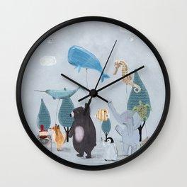 nature parade Wall Clock