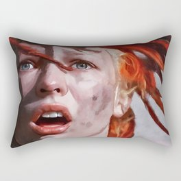 Leeloo Played By Milla Jovovich - The Fifth Element Rectangular Pillow