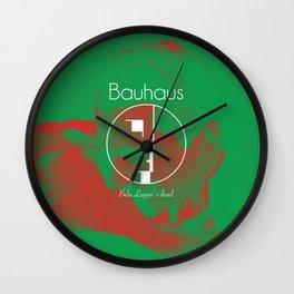 Bauhaus Bela Lugosi's Dead Album Cover Wall Clock