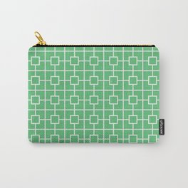 Emerald Green Square Chain Pattern Design Carry-All Pouch