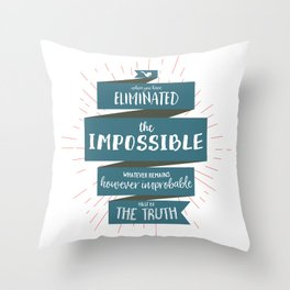 The Truth (blue) Throw Pillow
