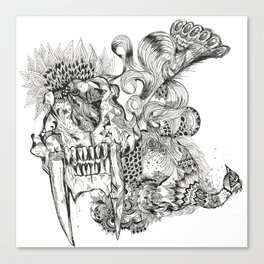 sabertooth & peacock Canvas Print