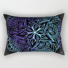 Mandala Purple & Cyan Rectangular Pillow