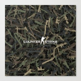 Counter strike weapon camouflage Canvas Print