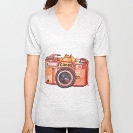 retro camera phone case Unisex V-Neck
