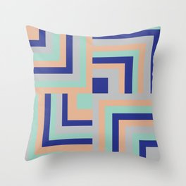 Four Squared Throw Pillow
