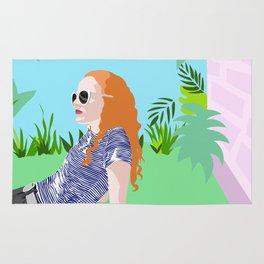 Eleanor in the garden Rug