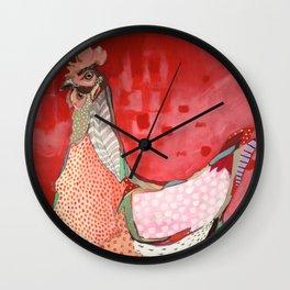 Little Red Hen Wall Clock