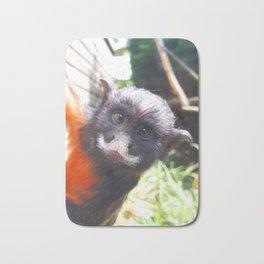 White-lipped tamarin monkey Bath Mat