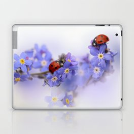 Ladybirds on Forget-me-not Laptop & iPad Skin