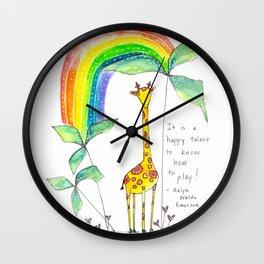 A Happy Talent Wall Clock