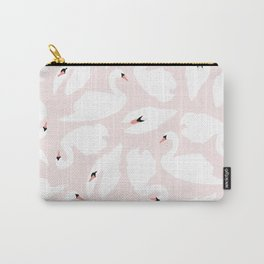 Swan Pattern on Pink 030 Carry-All Pouch