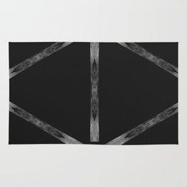 Industria Black Minimal Goth Style Rug