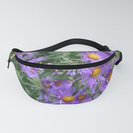 Purple Asters Fanny Pack