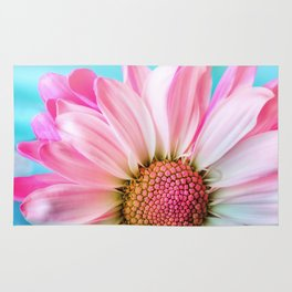 Pink Daisy Flower Rug