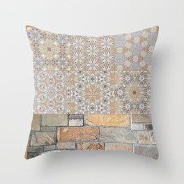 The Alamo Wall Collage 6396 Throw Pillow