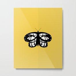 Les Papillons (Yellow) Metal Print