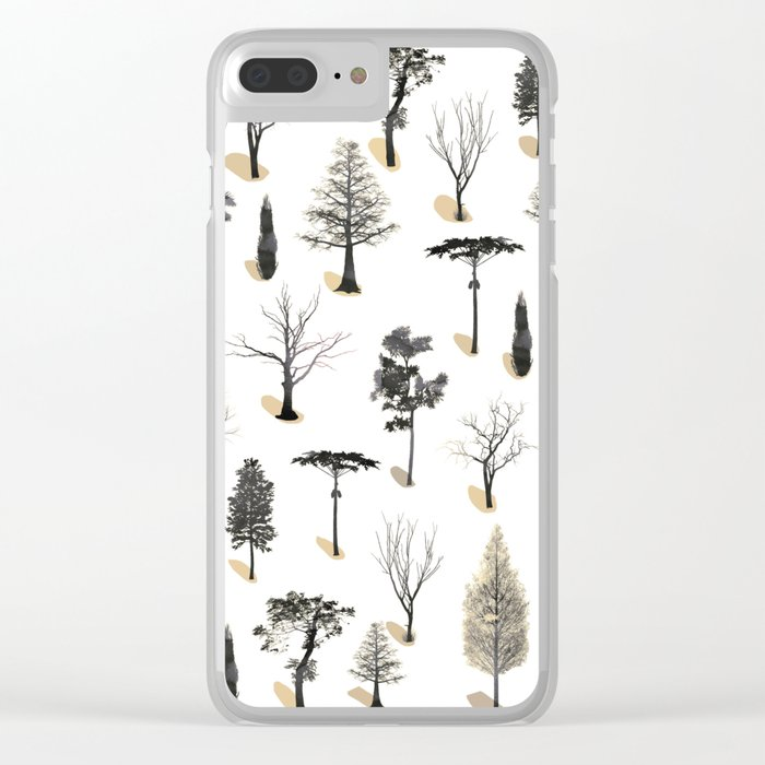 tree shadows Clear iPhone Case
