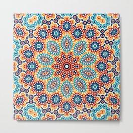 Jericho Mosaic Mandala Metal Print