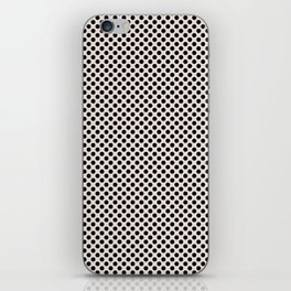 Bridal Blush and Black Polka Dots iPhone Skin