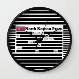 North Korea News Paper Wall Clock