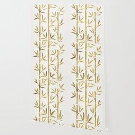 Bamboo Stems – Gold Palette Wallpaper