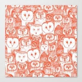 just owls flame orange Canvas Print
