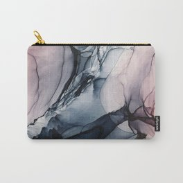 Blush, Navy and Gray Abstract Calm Clouds Carry-All Pouch