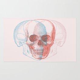 skull threesome Rug