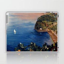 Italy Sorrento Bay of Naples vintage Italian travel Laptop & iPad Skin