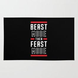 Beast Mode Then Feast Mode Rug
