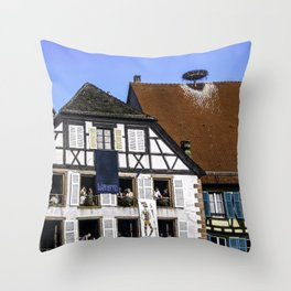Windows - Colmar France Throw Pillow