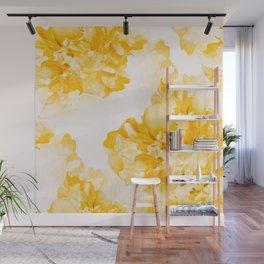Beautiful Peony Flowers White Background #decor #society6 #buyart Wall Mural