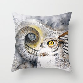 Ocular Labyrinth Throw Pillow