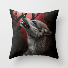 BloodMoon Throw Pillow