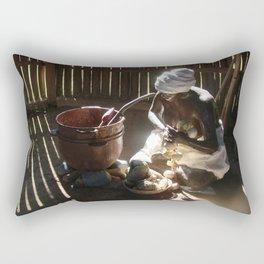 African slave sculpture in Arecibo Rectangular Pillow