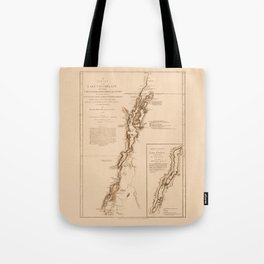 1770s Maps: Lakes Champlain and George (adapted) Tote Bag