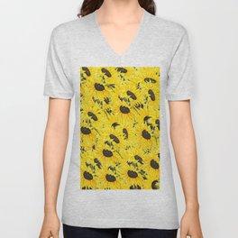 sunflower pattern 2018 1 Unisex V-Neck