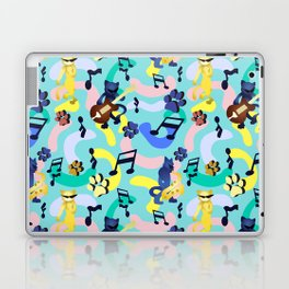 Nineties Jazz Cats Pattern Laptop & iPad Skin