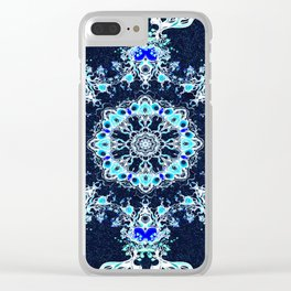 winter mandala Clear iPhone Case