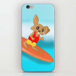 Easter Bunny Goes Surfing iPhone Skin