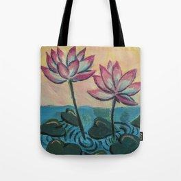 Lotus in the Pond Tote Bag
