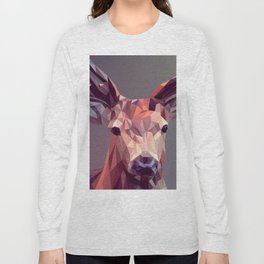 Colorful Polygons Abstract Deer Long Sleeve T-shirt