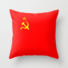 ussr cccp russia soviet union communist flag Throw Pillow