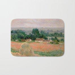 Haystack at Giverny Bath Mat